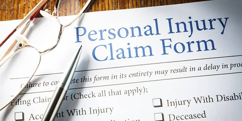 personal-injury claim form
